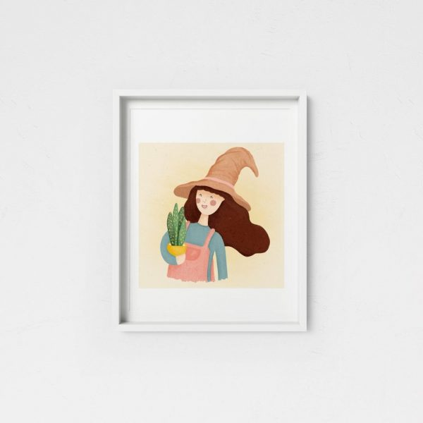 Green Witch Framed scaled