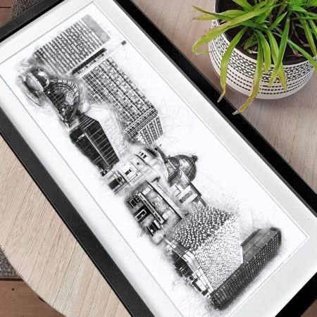 Amy liz designs long sheffield skyline print