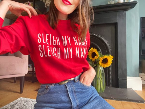 SleighMyName Sweater ChilliRed scaled