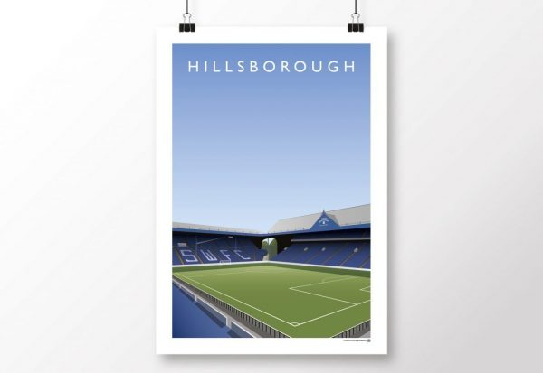 Hillsborough Kop Poster Sheffield Wednesday scaled
