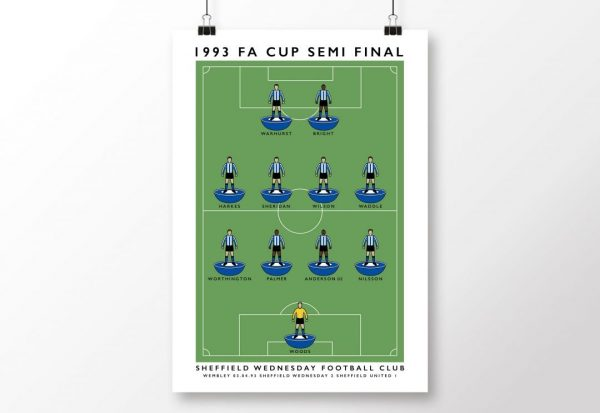 Sheffield Wednesday 1993 FA Cup Semi Poster scaled