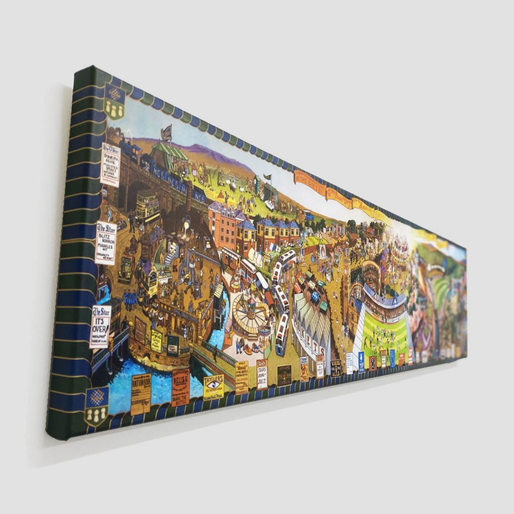 Joe Scarborough Signed Canvas Print Sheffield Through the Ages